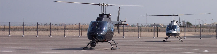 Jet Ranger fitted with Cineflex HD Camera System being used at the Asian Games. Doha